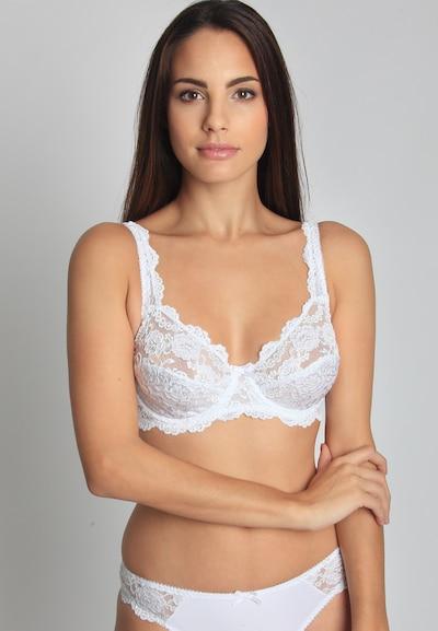 sassa Bügel-BH 'CLASSIC LACE' in weiß, Modelansicht