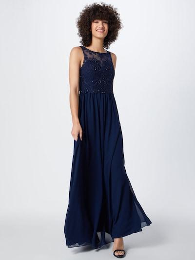 Laona Abendkleid in rauchblau, Modelansicht