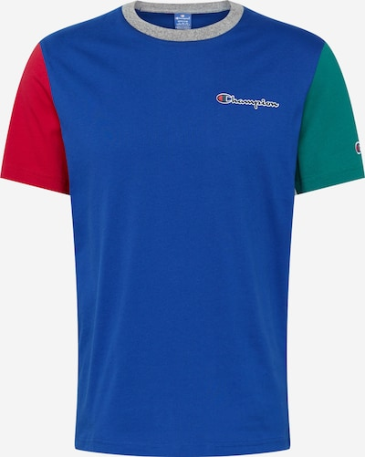 Champion Authentic Athletic Apparel T-Shirt in blau / grün / rot, Produktansicht