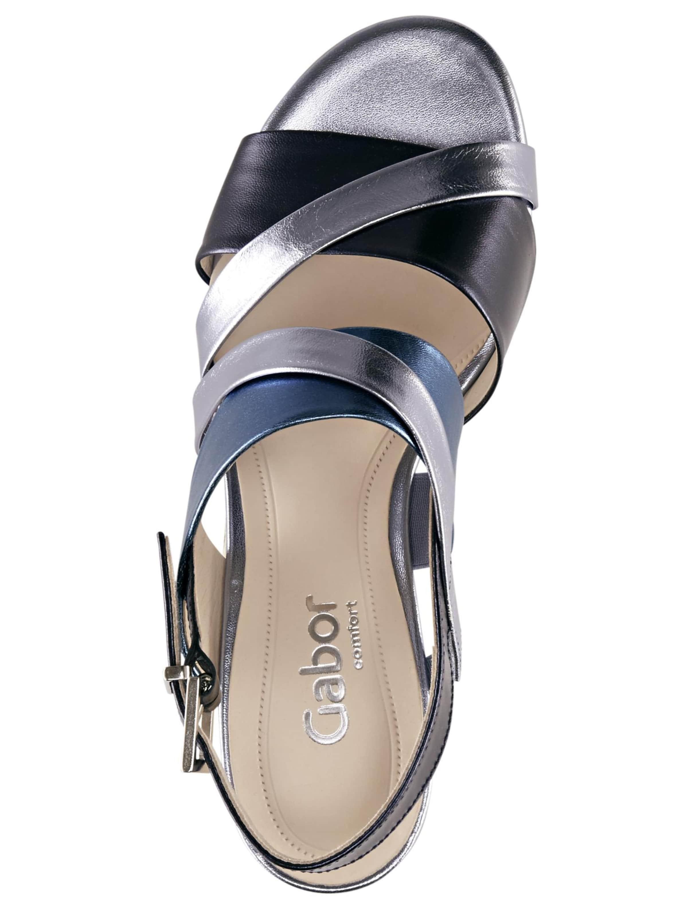 Silber Gabor Sandalette Sandalette BlauNavy Silber BlauNavy In In Gabor nO80vNwm