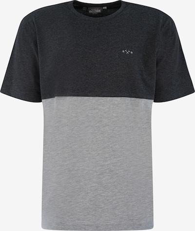 mazine T-Shirt 'Utica T' in graumeliert / schwarzmeliert, Produktansicht