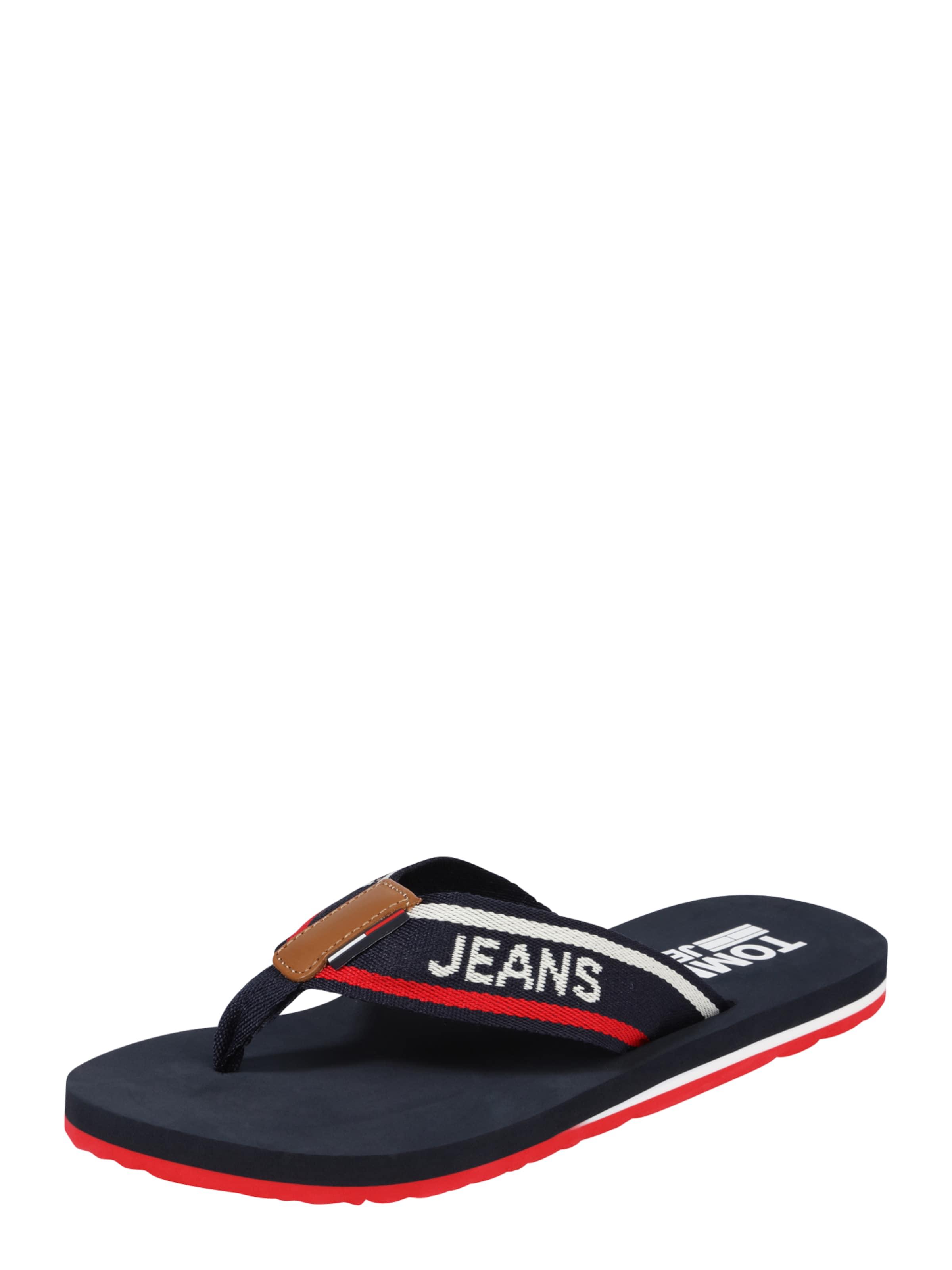Haltbare Mode billige Schuhe Tommy Jeans | getragene Zehentrenner 'Beach' Schuhe Gut getragene | Schuhe 9a9ede