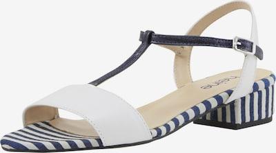 heine Sandalette in dunkelblau / weiß, Produktansicht