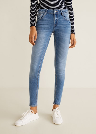 MANGO Jeans 'Kim' in blue denim: Frontalansicht