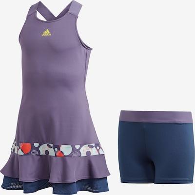 ADIDAS PERFORMANCE Tenniskleid 'Frill' in navy / lila / orangerot / weiß, Produktansicht