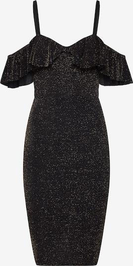 Boohoo Φόρεμα κοκτέιλ 'Glitter Ruffle ' σε μαύρο, Άποψη προϊόντος