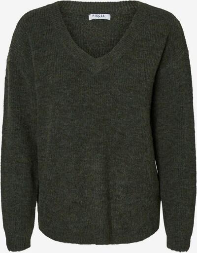PIECES Pullover in dunkelgrün, Produktansicht