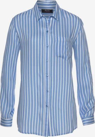 Aniston CASUAL Bluse in rauchblau / weiß, Produktansicht