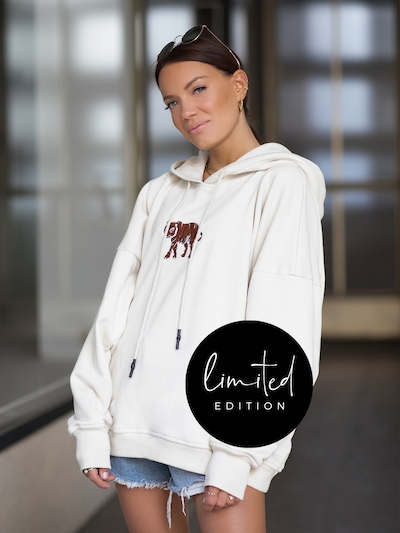 ABOUT YOU Limited Pullover in creme: Frontalansicht