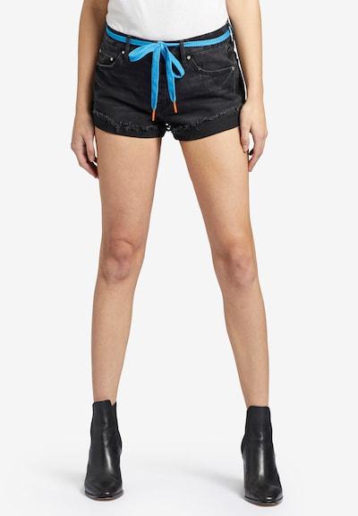 khujo Jeans 'Adelheid' in de kleur Aqua / Black denim, Modelweergave