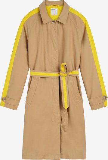 Sandwich Trenchcoat in hellbraun / gelb, Produktansicht