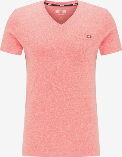 MUSTANG T-Shirt ' Aaron V Basic ' in pink, Produktansicht