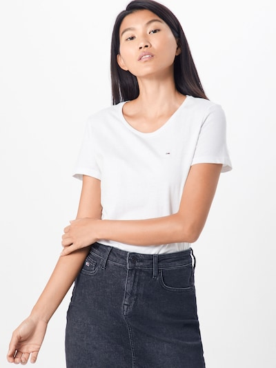 Tommy Jeans T-Shirt in weiß: Frontalansicht