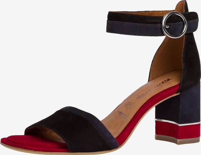 TAMARIS Sandaal in Rood / Zwart cqWSCm7F