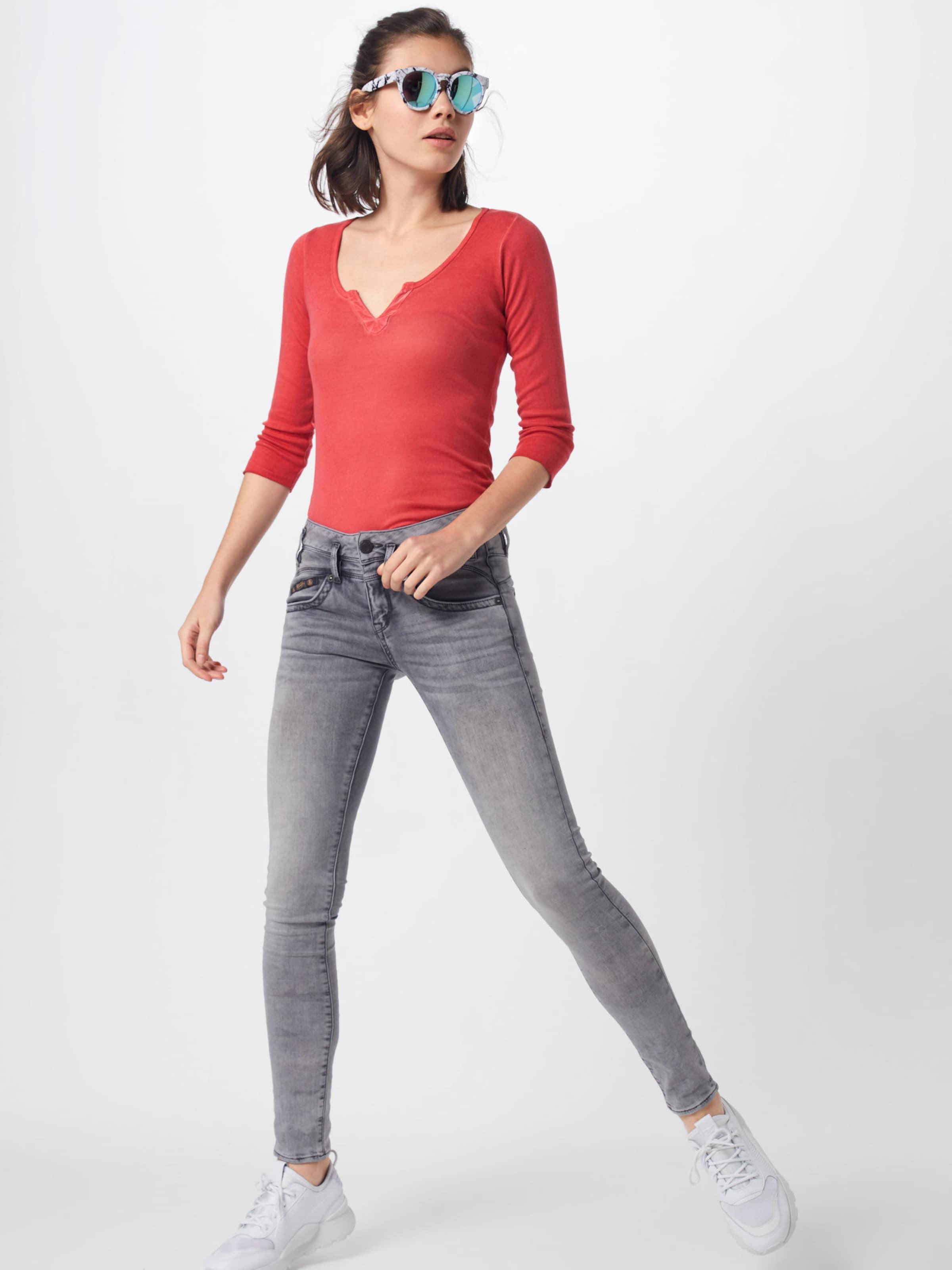 'safia Shirt Micro Rib' Herrlicher In Rot UMqSVzp