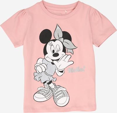 NAME IT T-Shirt 'MINNIE' in rosa / schwarz / silber, Produktansicht