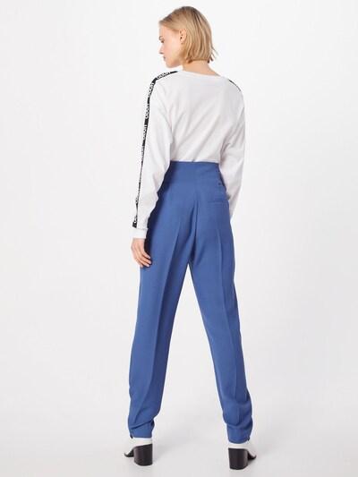 Pantaloni cu dungă 'Hosalia' HUGO pe albastru: Privire spate
