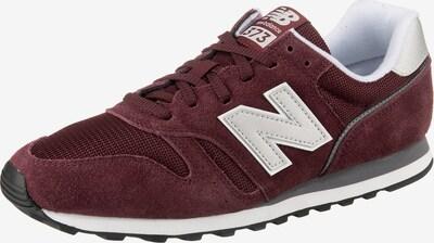 new balance Sneaker in hellgrau / weinrot / weiß, Produktansicht