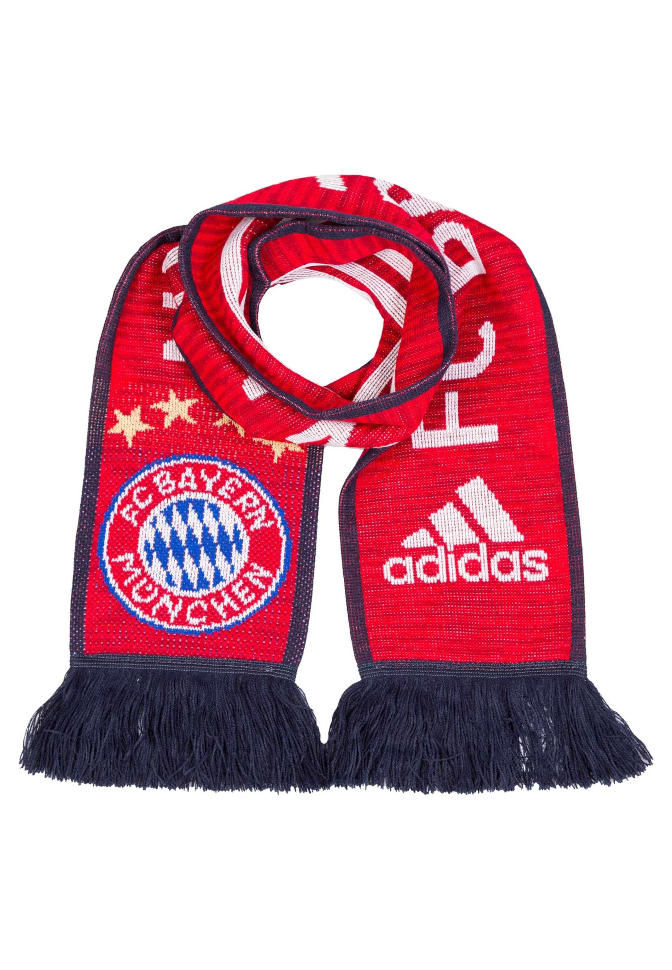 In DunkelblauRot Performance Fanschal 'fc Bayern' Adidas Weiß Yf76gby