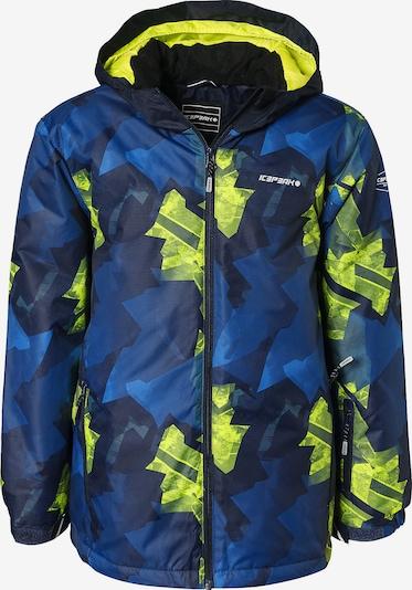 ICEPEAK Skijacke 'Locke' in blau / nachtblau / neongelb, Produktansicht