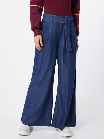 Mavi Kalhoty se sklady v pase - marine modrá, Model/ka