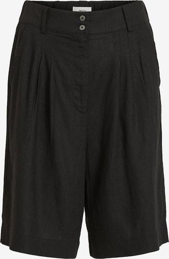 OBJECT High Waist Loose Fit Shorts in schwarz: Frontalansicht