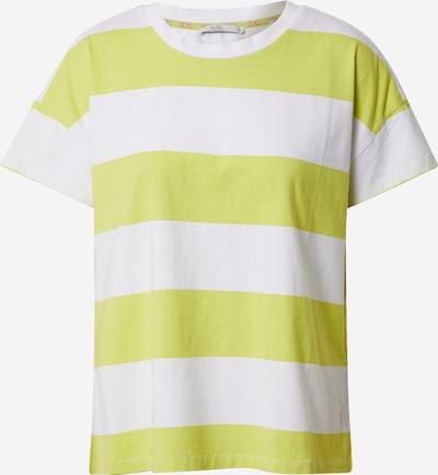 EDC BY ESPRIT Shirt in gelb / weiß, Produktansicht