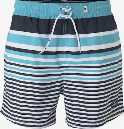 TOM TAILOR Gestreifte Badeshorts in blau / schwarz / weiß, Produktansicht