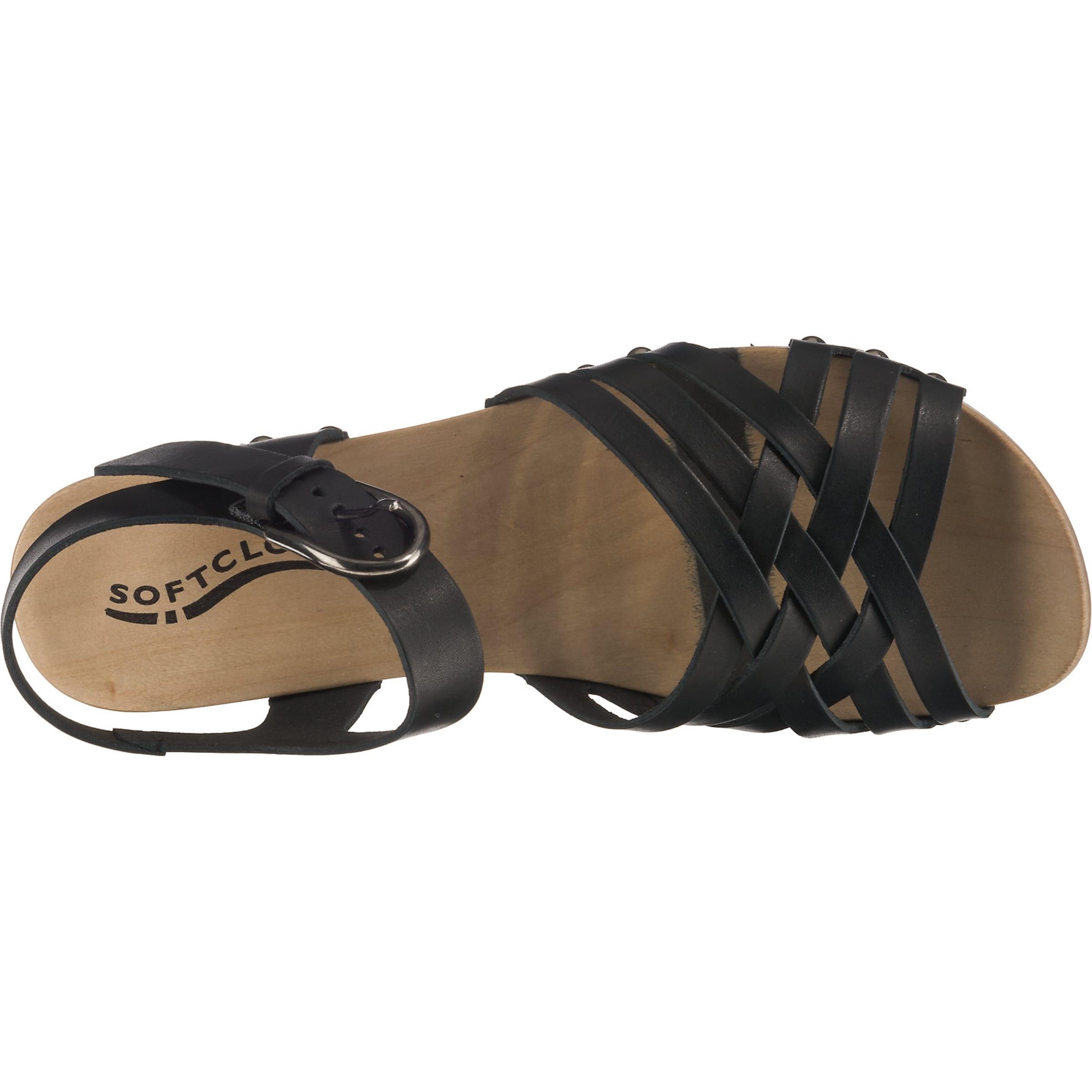 sandaletten Schwarz In 'pamina' Softclox Plateau sQBordthCx