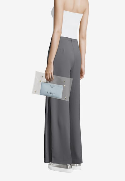 LeGer by Lena Gercke Clutch 'Elaine' in petrol / transparent: Frontalansicht