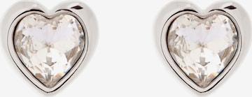 Cercei 'HAN: CRYSTAL HEART EARRING' de la Ted Baker pe argintiu