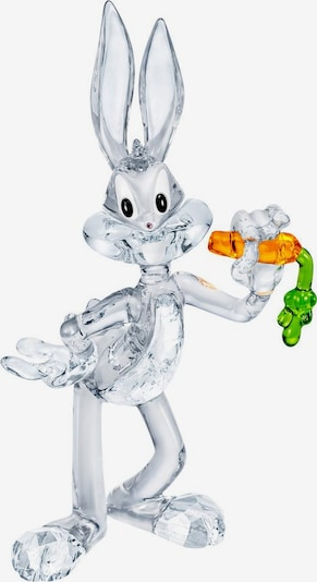 Swarovski Dekofigur 'Bugs Bunny' in grün / orange / transparent, Produktansicht