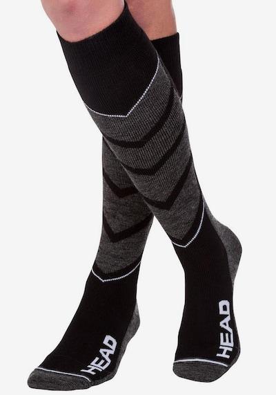 HEAD Skisocken in schwarz / weiß: Frontalansicht