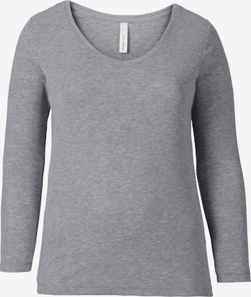 SHEEGO Langarmshirt in Grey