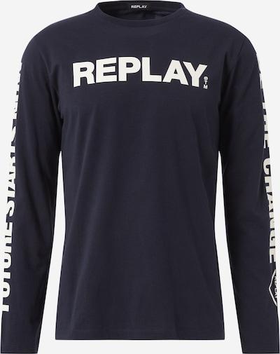 REPLAY Shirt in dunkelblau / weiß, Produktansicht