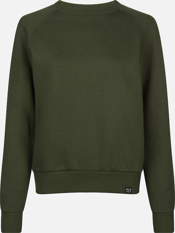 HIS JEANS Sweatshirt in oliv  Markenkleidung für Männer und Frauen