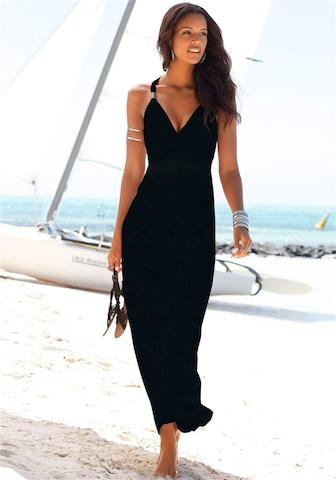 LASCANA Strandjurk in Zwart