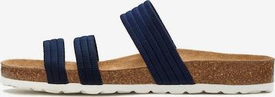 LASCANA Pantolette in blau / braun / weiß, Produktansicht