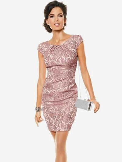 heine Puzdrové šaty - ružová / púdrová / eozín, Model/-ka