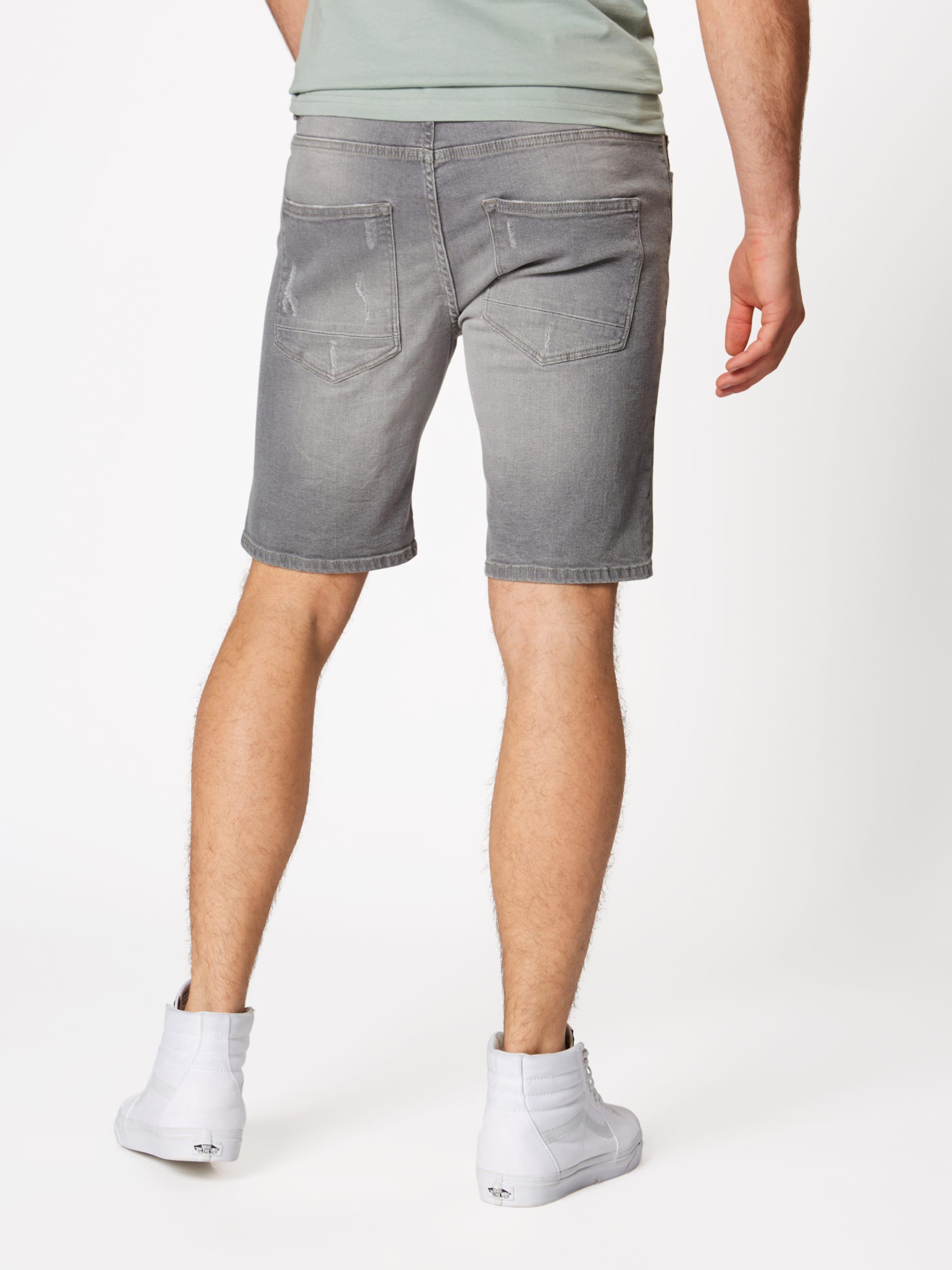 Grey' ryder Shorts In solid Grau 'regular lt 0m8wvNnO
