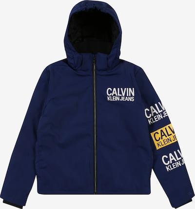 Calvin Klein Jeans Winterjas 'STAMP LOGO HOODED SH' in de kleur Blauw: Vooraanzicht