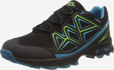 Brütting Lage schoen in de kleur Blauw / Kiwi / Zwart, Productweergave