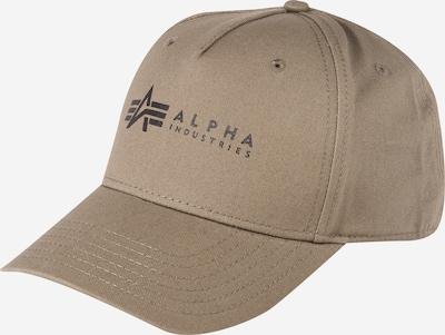 ALPHA INDUSTRIES Cap 'Alpha' in khaki / schwarz, Produktansicht