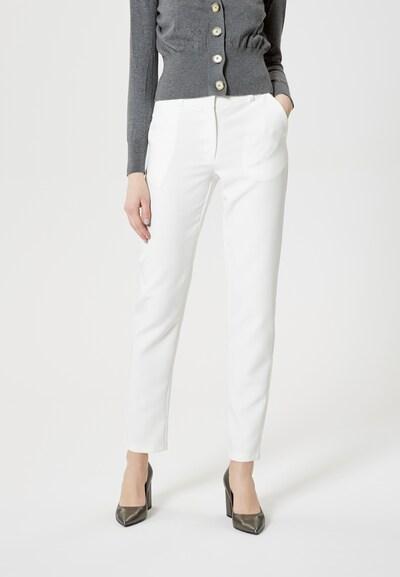Usha Pantalon en blanc: Vue de face