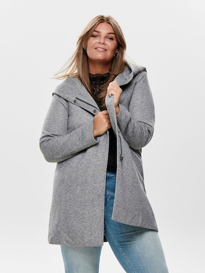 ONLY Carmakoma Between-Seasons Coat in Light grey, View model