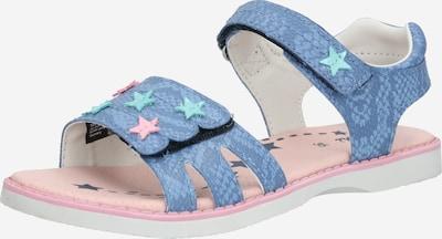 LURCHI Sandales en bleu / vert / rose, Vue avec produit