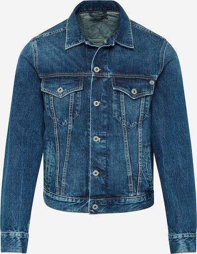 Pepe Jeans Tussenjas 'Pinner' in de kleur Blauw denim: Vooraanzicht
