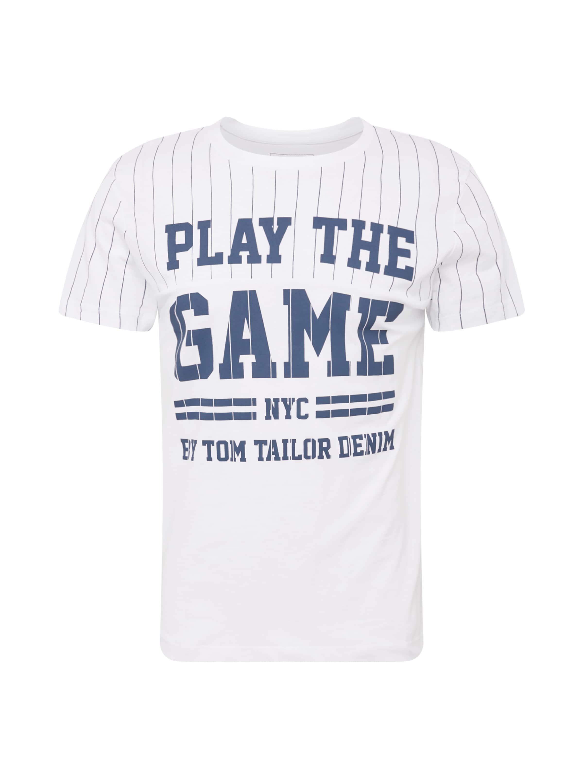 Tom Denim T Tailor shirt BlauWeiß In zpSMVqU