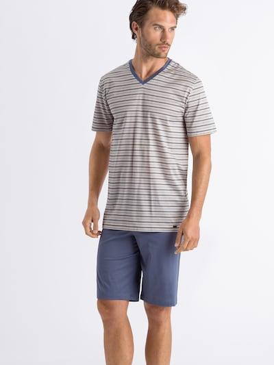 Hanro Pyjama kort in de kleur Blauw / Gemengde kleuren: Vooraanzicht
