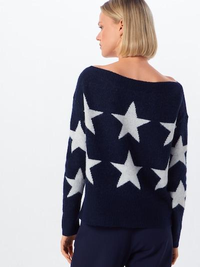 ONLY Pulover 'AURELIE ' | nočno modra / bela barva: Pogled od zadnje strani
